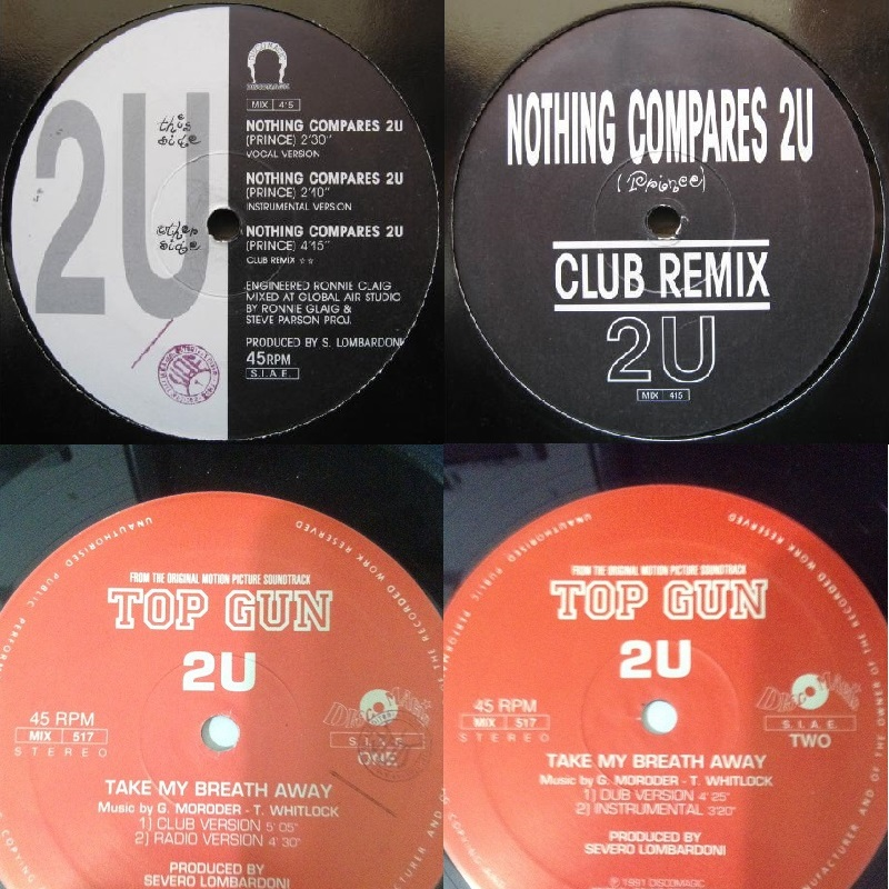 "2U 2 Singles 12"" 1991 Take My Breath Away - Nothing Compares 2U Flac  Mmmmm-479b593"