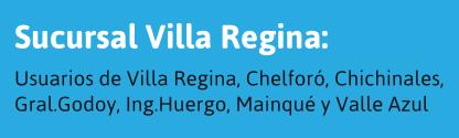 Usuarios de Villa Regina y alrededores