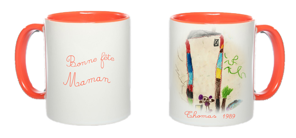 "Fête des mères ""dessins d'enfants"" Ensemble_mug-colore_orange-4f54142"