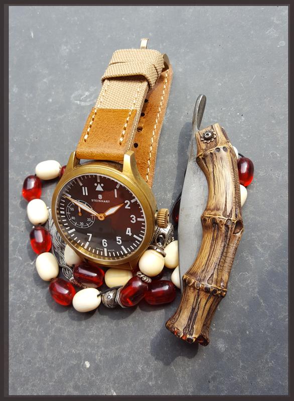 Nav B-Uhr 47 Handaufzug, Bronze Costas23-5414c60
