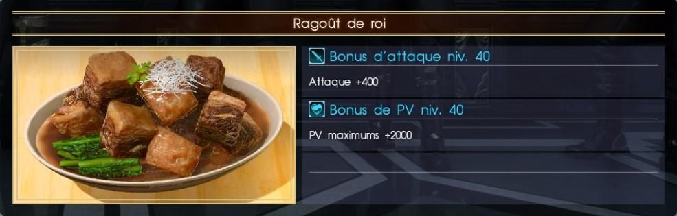 Final Fantasy XV ragoût de roi