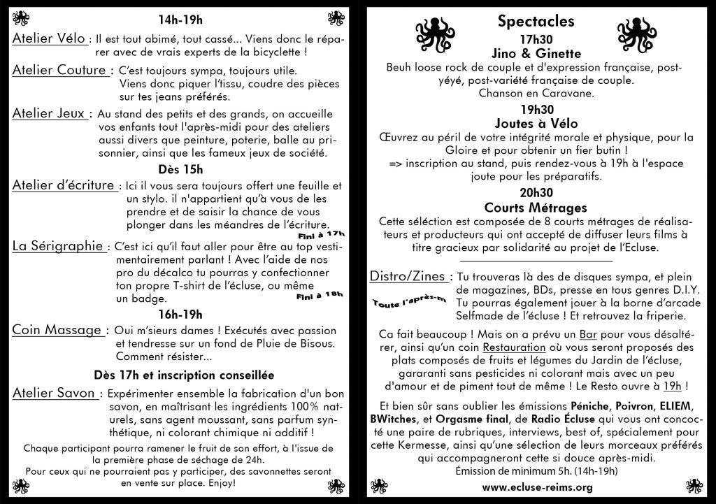 programme de la kermesse