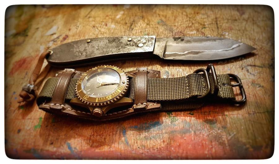Nav B-Uhr 47 Handaufzug, Bronze Combo-53ceb9c