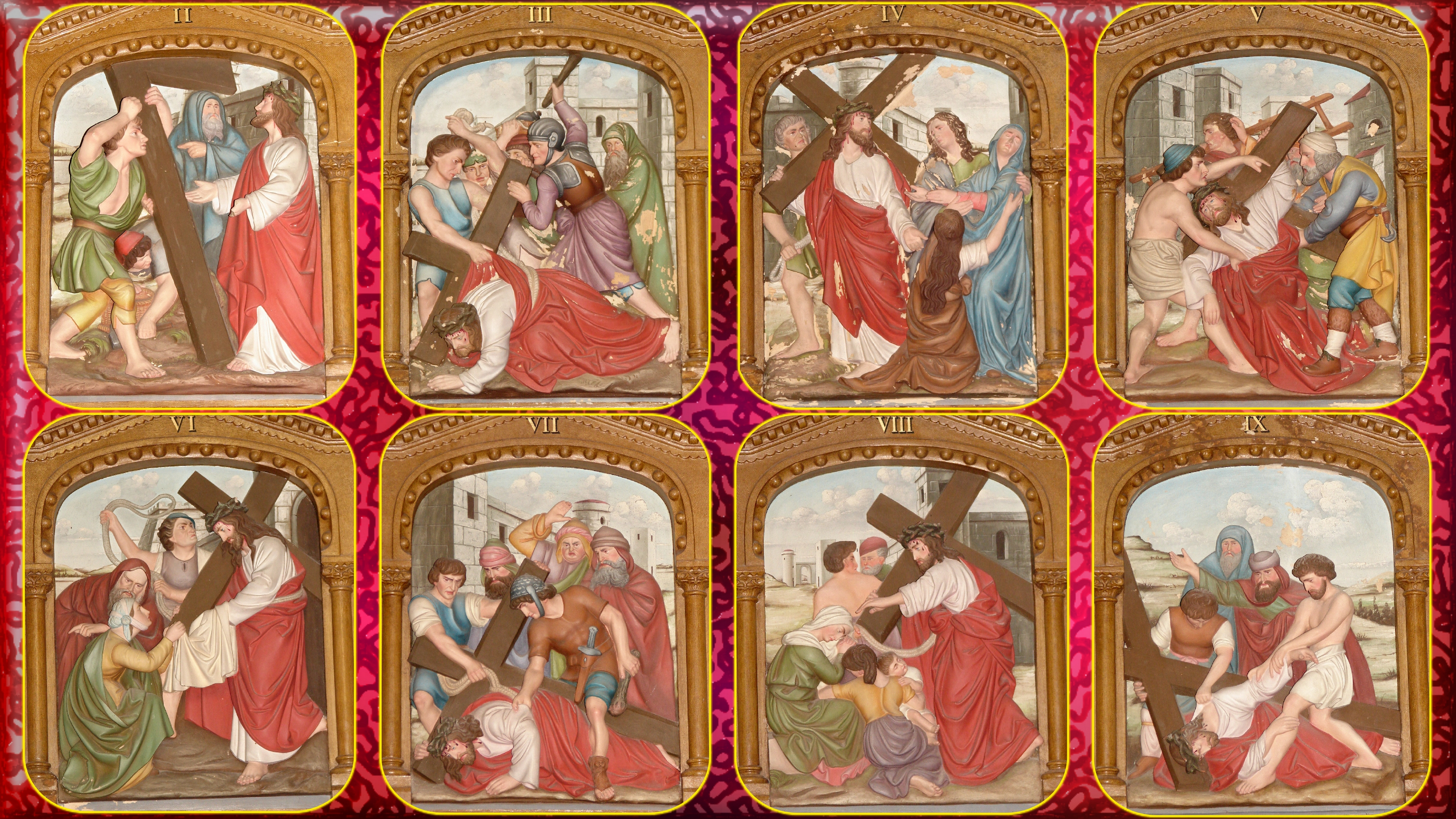 Le Rosaire en Images - Page 2 Chemin-de-la-croi...ions-1-9-55f9b2f