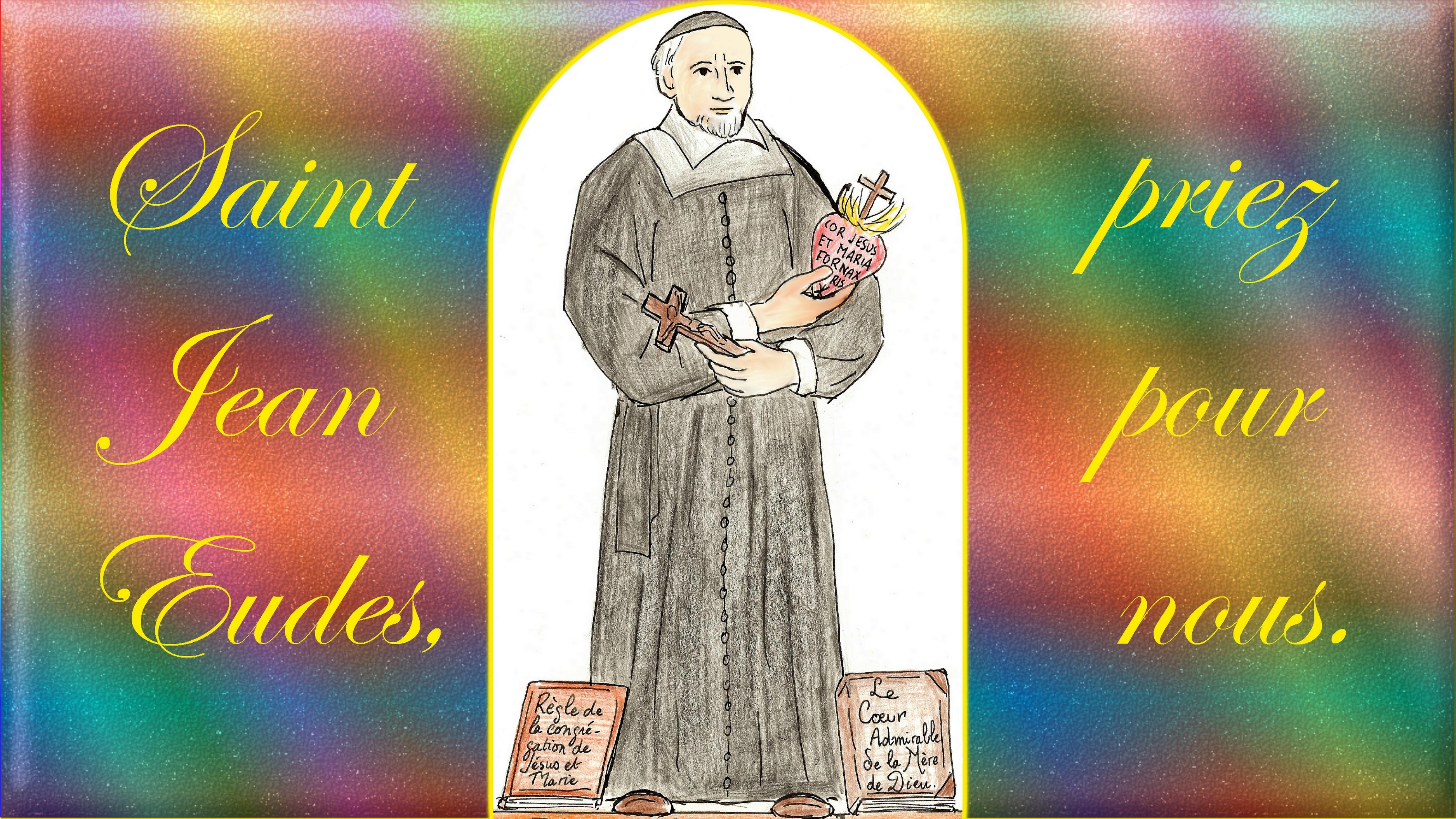 CALENDRIER CATHOLIQUE 2019 (Cantiques, Prières & Images) - Page 6 St-jean-eudes-567b255