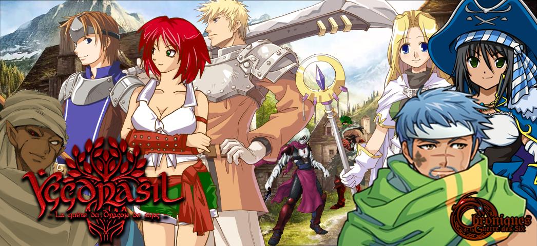 Chroniques de la guerre des Six : Yggdrasil la quête du dragon de sang Banniere-six-4aad4f1