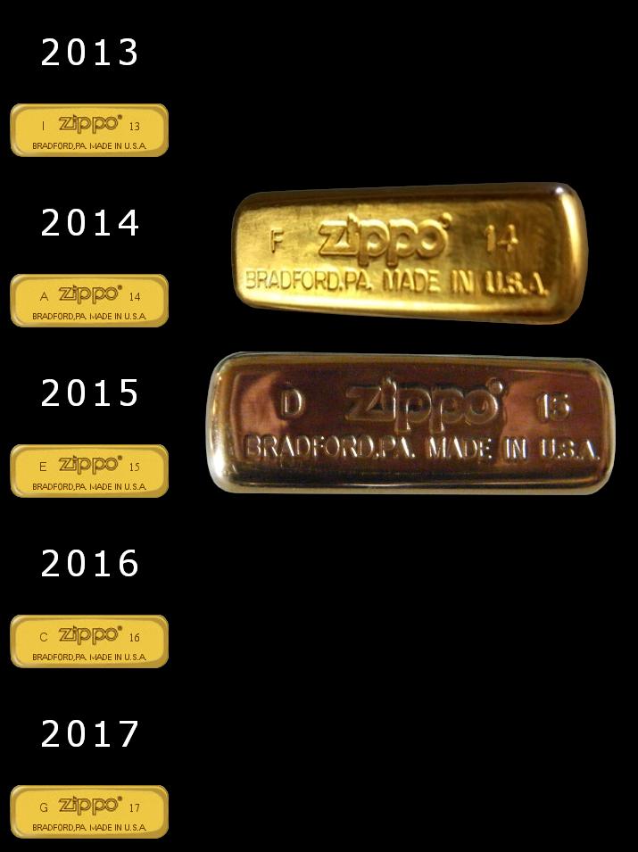 brass - [Datation] Les Zippo Solid Brass Slim-2013-2017-525b846