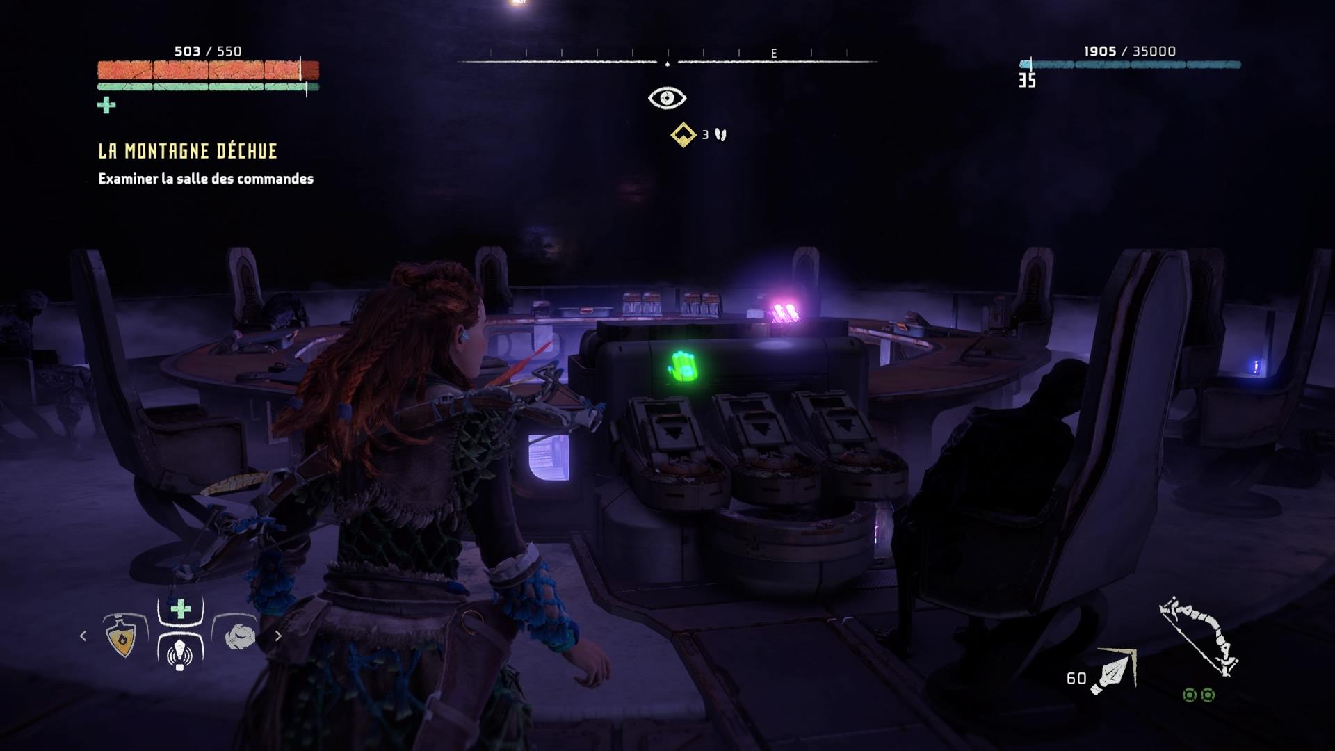 Horizon Zero Dawn Arme puissante obtenue