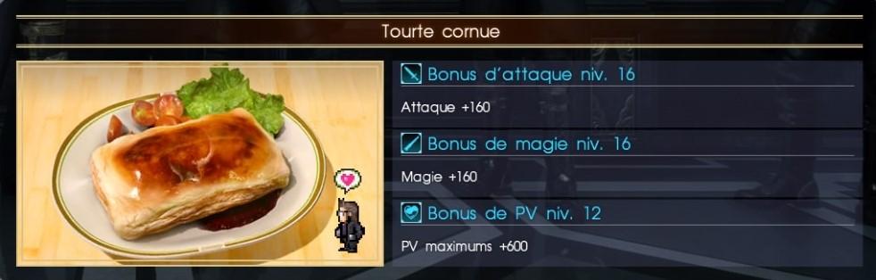 Final Fantasy XV tourte cornue