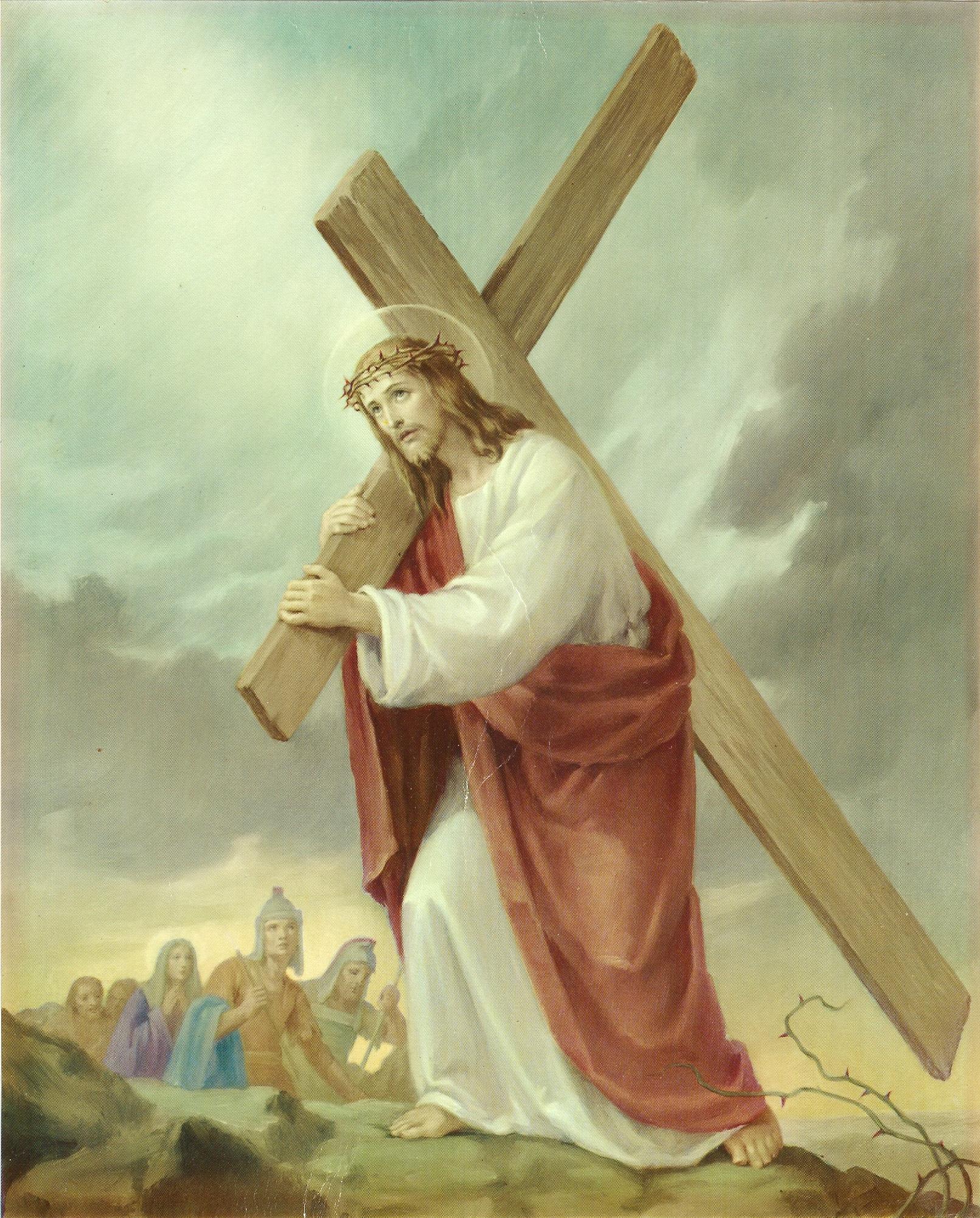 Le Rosaire en Images - Page 2 9--le-portement-de-croix-5595a35