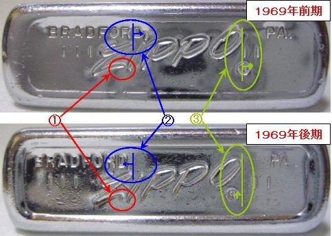[Datation] Les Zippo Regular Comparaison-1969-5266f62
