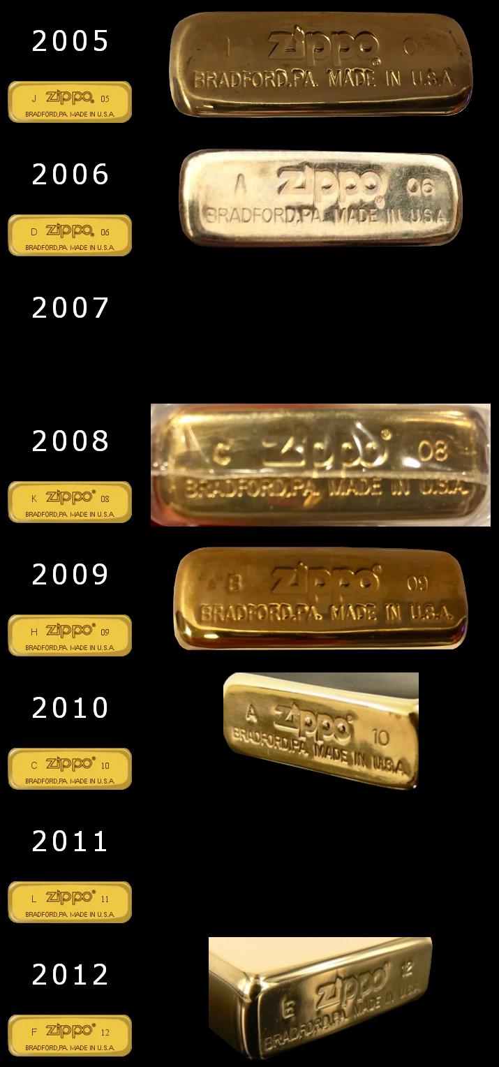 brass - [Datation] Les Zippo Solid Brass Slim-2005-2012-524ba16