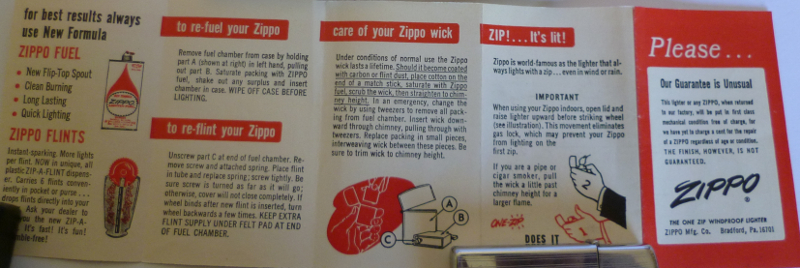 Les boites Zippo au fil du temps Zippo-1966---slim-ribbon-3--52ed254