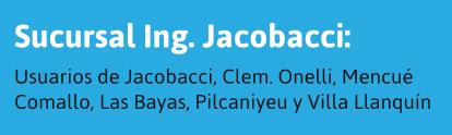 Usuarios de Jacobacci y alrededores