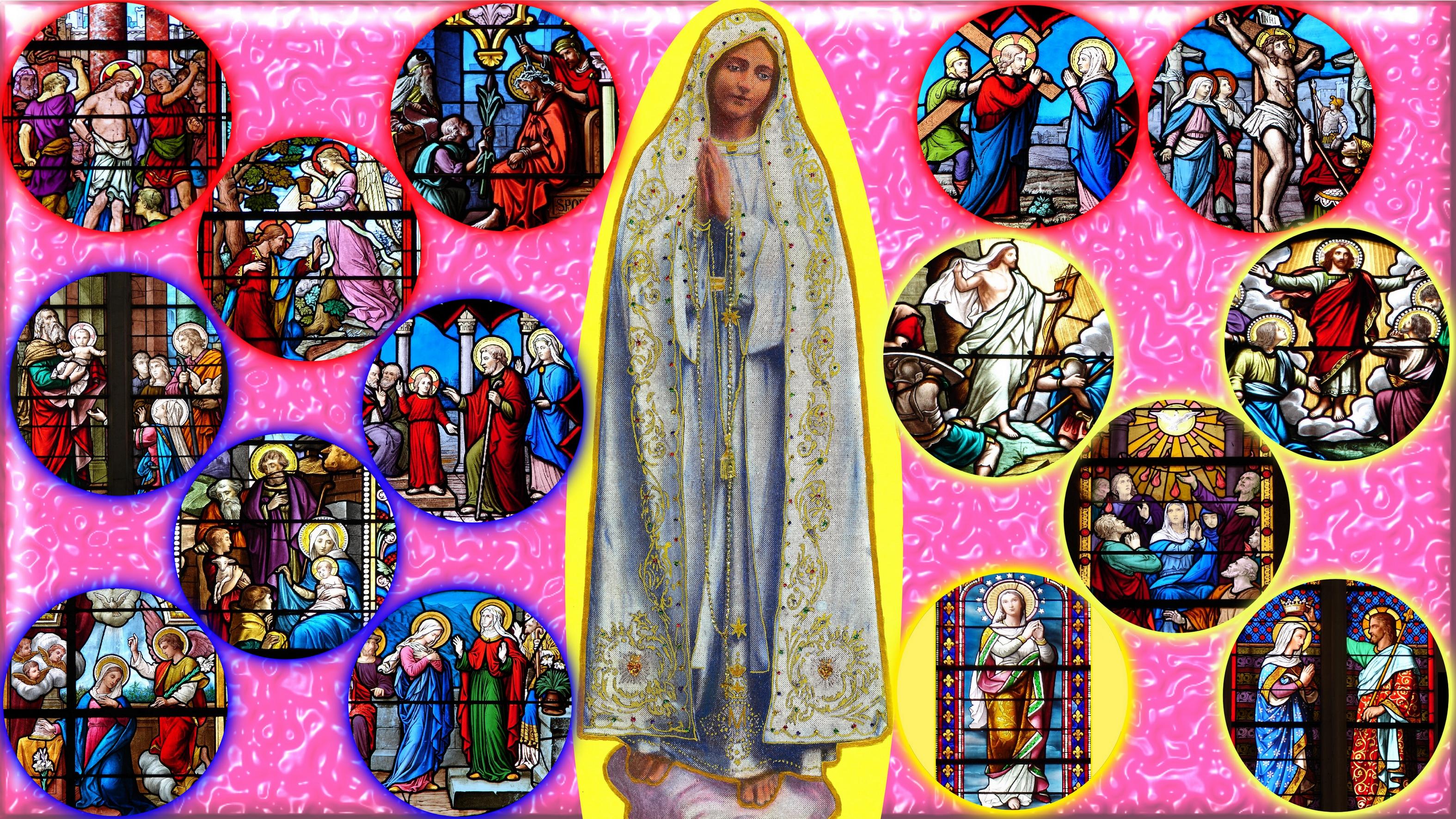CALENDRIER CATHOLIQUE 2019 (Cantiques, Prières & Images) - Page 2 Notre-dame-du-ros...e-fatima-55a29f2