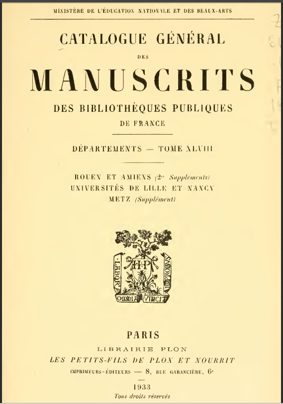 La VISIBILITÉ de l'ÉGLISE - Page 43 Catalogue-des-man...its-1933-5597c8e