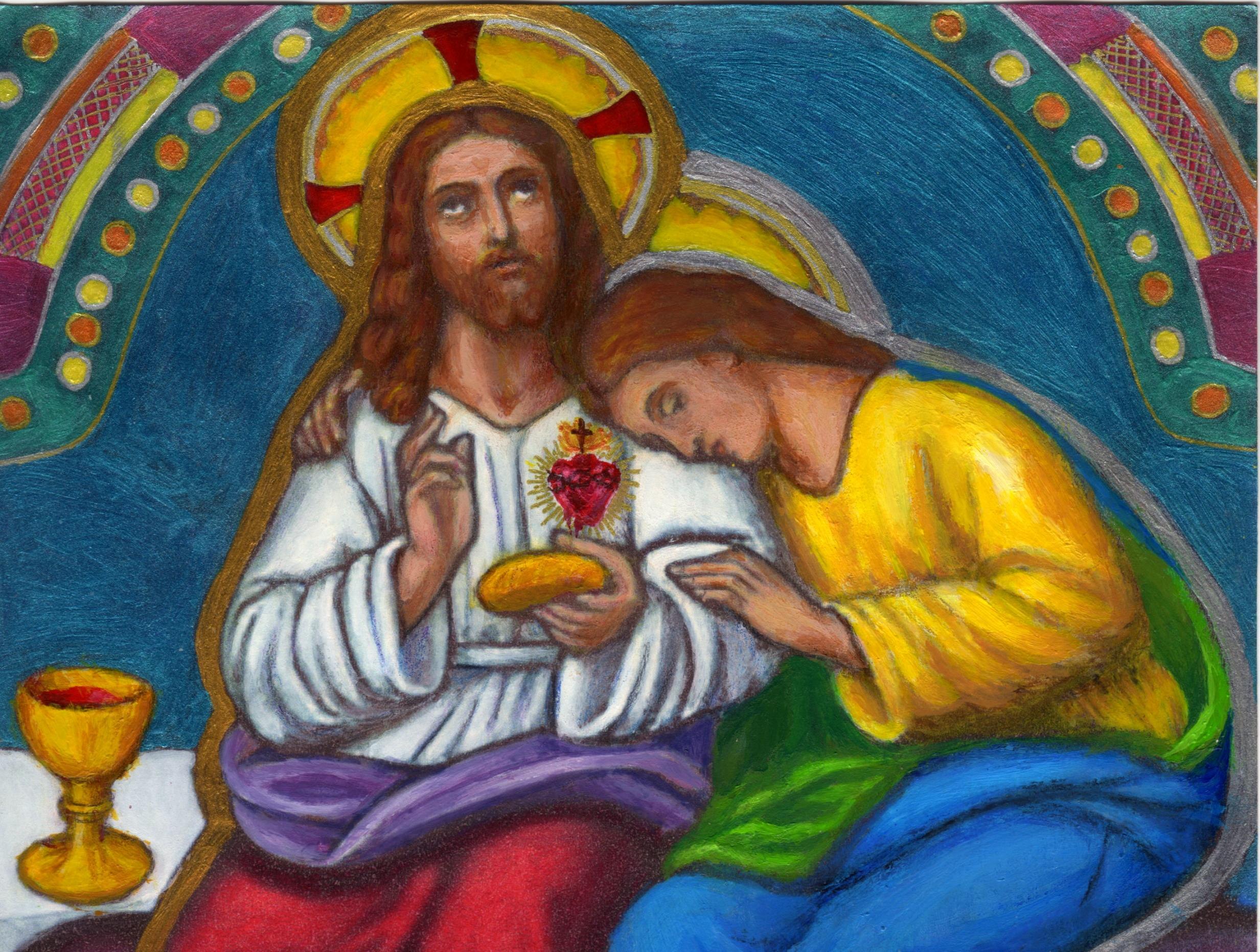 CALENDRIER CATHOLIQUE 2020 (Cantiques, Prières & Images) - Page 10 St-jean-reposant-...-re-c-ne-55e0e6f