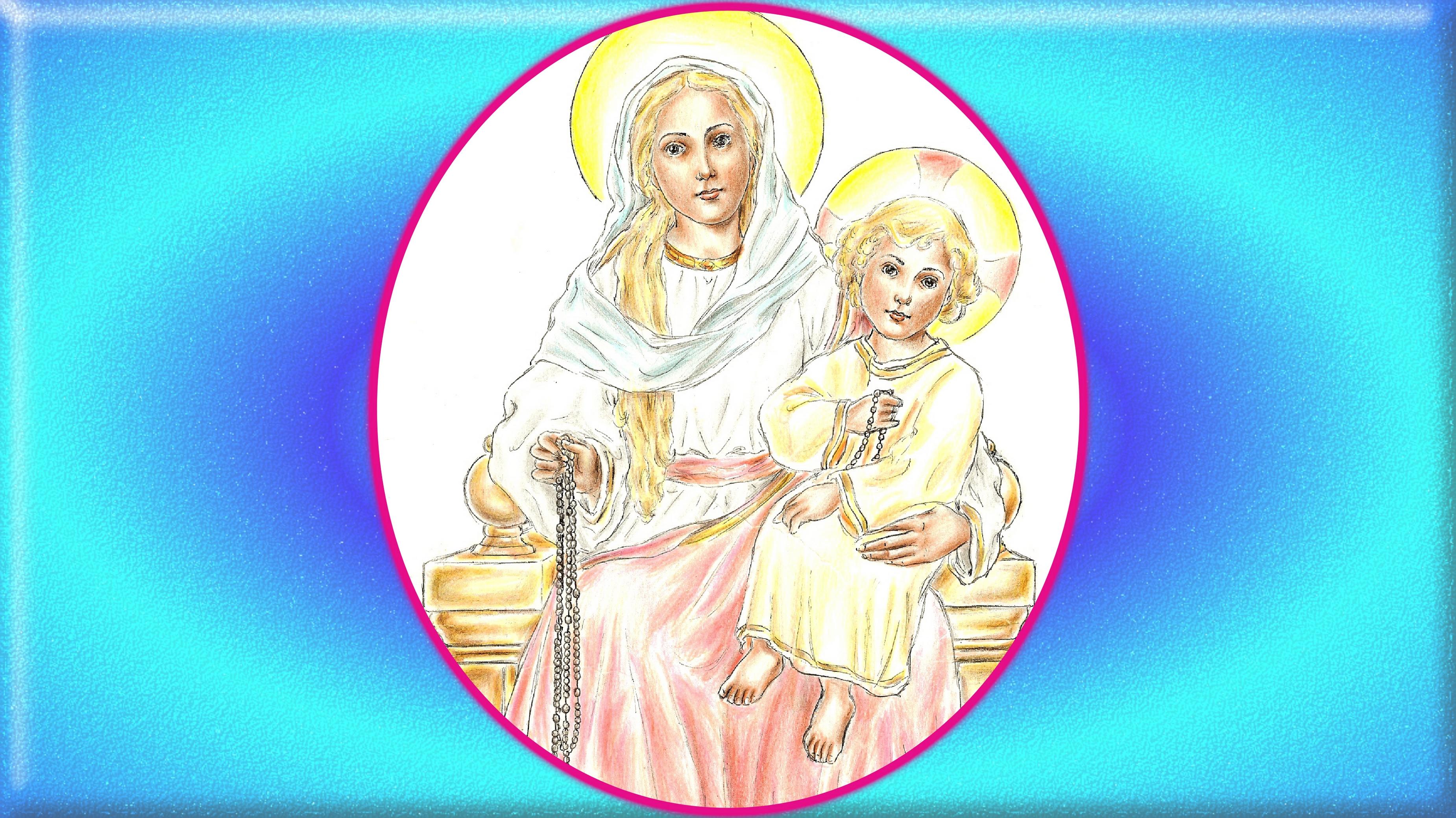Le CHAPELET CHANTÉ INTÉGRALEMENT Notre-dame-du-rosaire-2--5654cb8