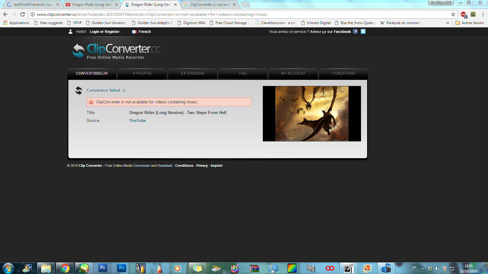 13222447031fe1 ClipConverter is not available for videos... by LordBlackTiger666 on  DeviantArt