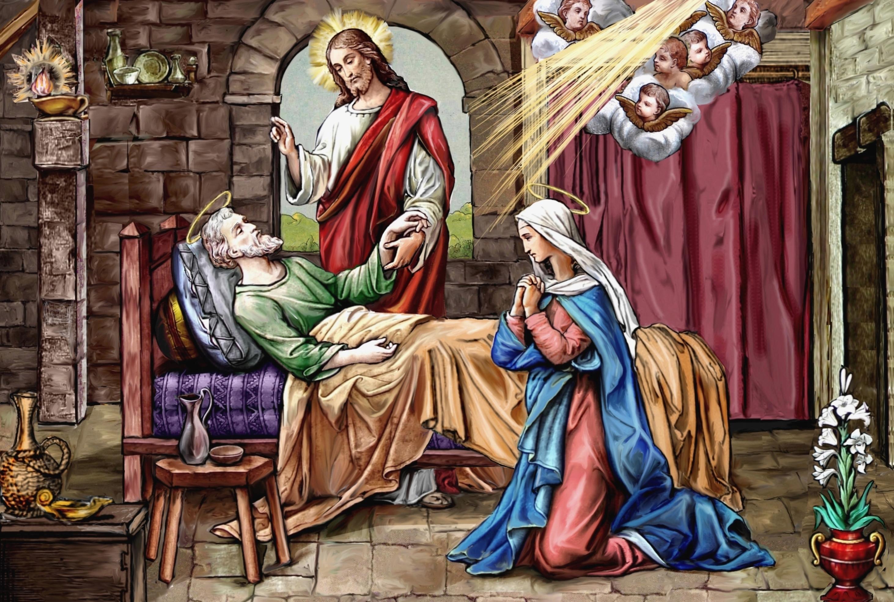 Le MOIS de SAINT JOSEPH par le R.P. Pedini (1854) - Page 3 Mort-de-saint-joseph-55e4064