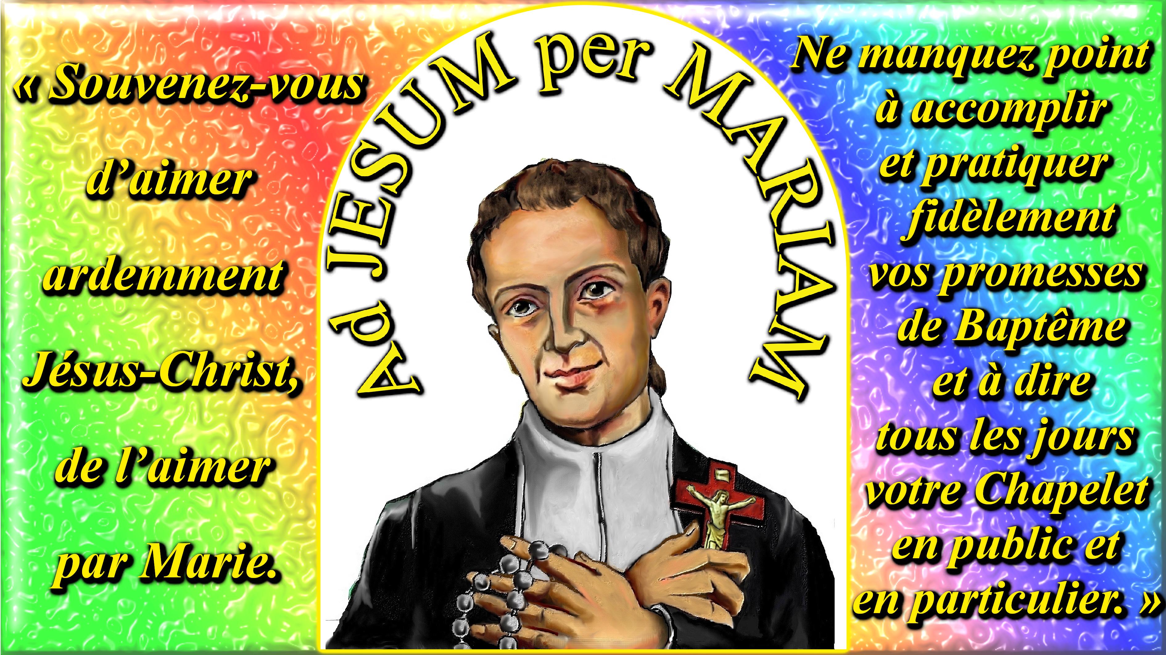 CALENDRIER CATHOLIQUE 2020 (Cantiques, Prières & Images) - Page 12 Ad-jesum-per-mari...ontfort--557cd1a