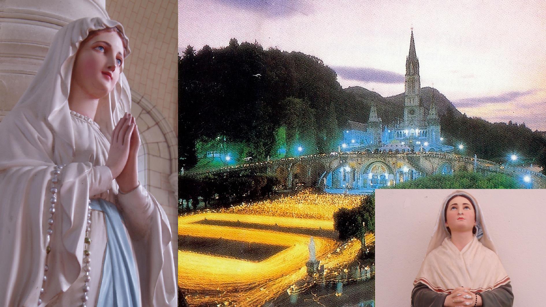 CALENDRIER CATHOLIQUE 2020 (Cantiques, Prières & Images) - Page 4 Procession-aux-fl...rnadette-55be869