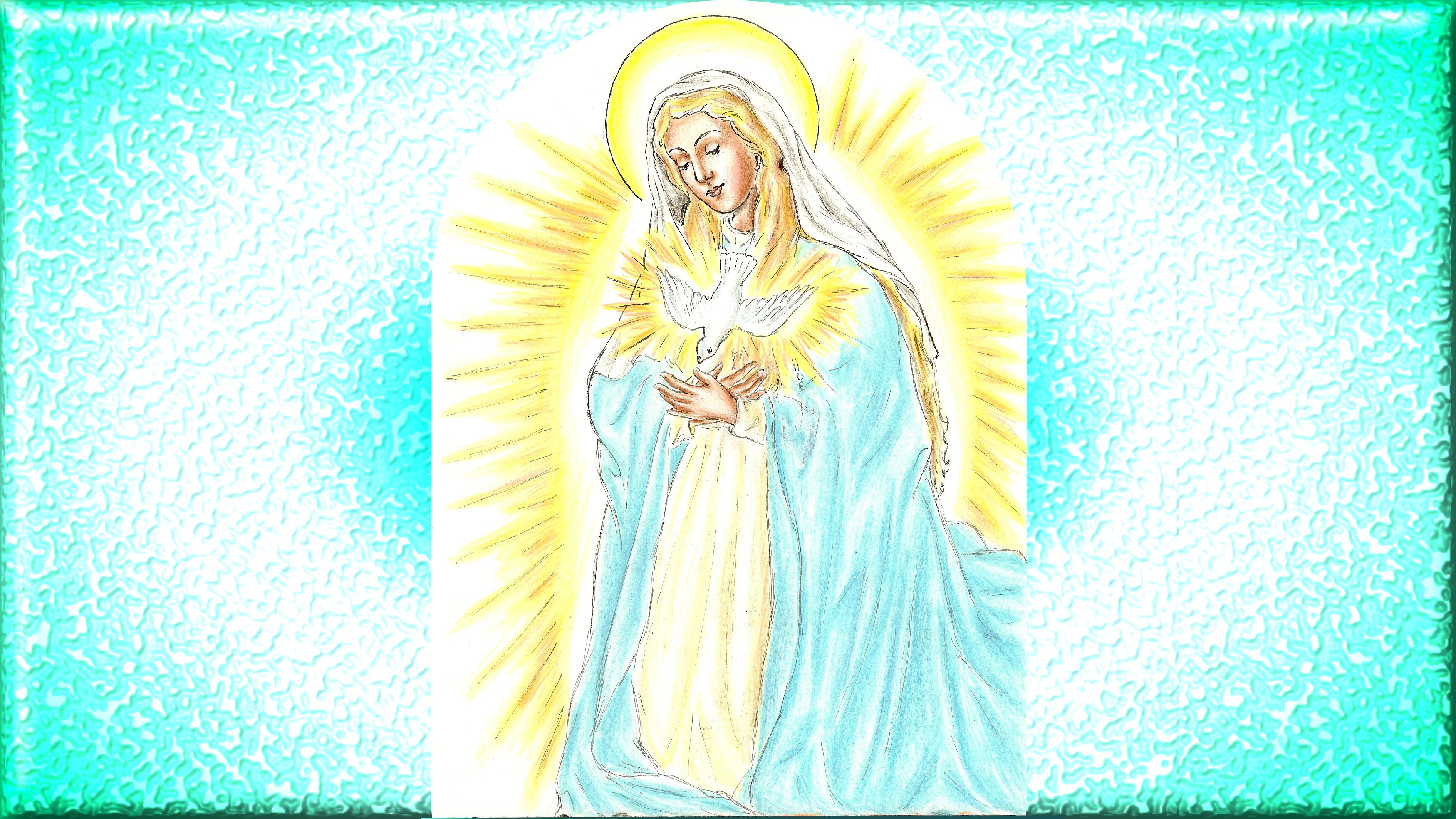 Le CIEL OUVERT par les 3 AVE MARIA du MATIN et du SOIR & La NEUVAINE EFFICACE - Page 2 Maternit-divine-de-marie-55824e5