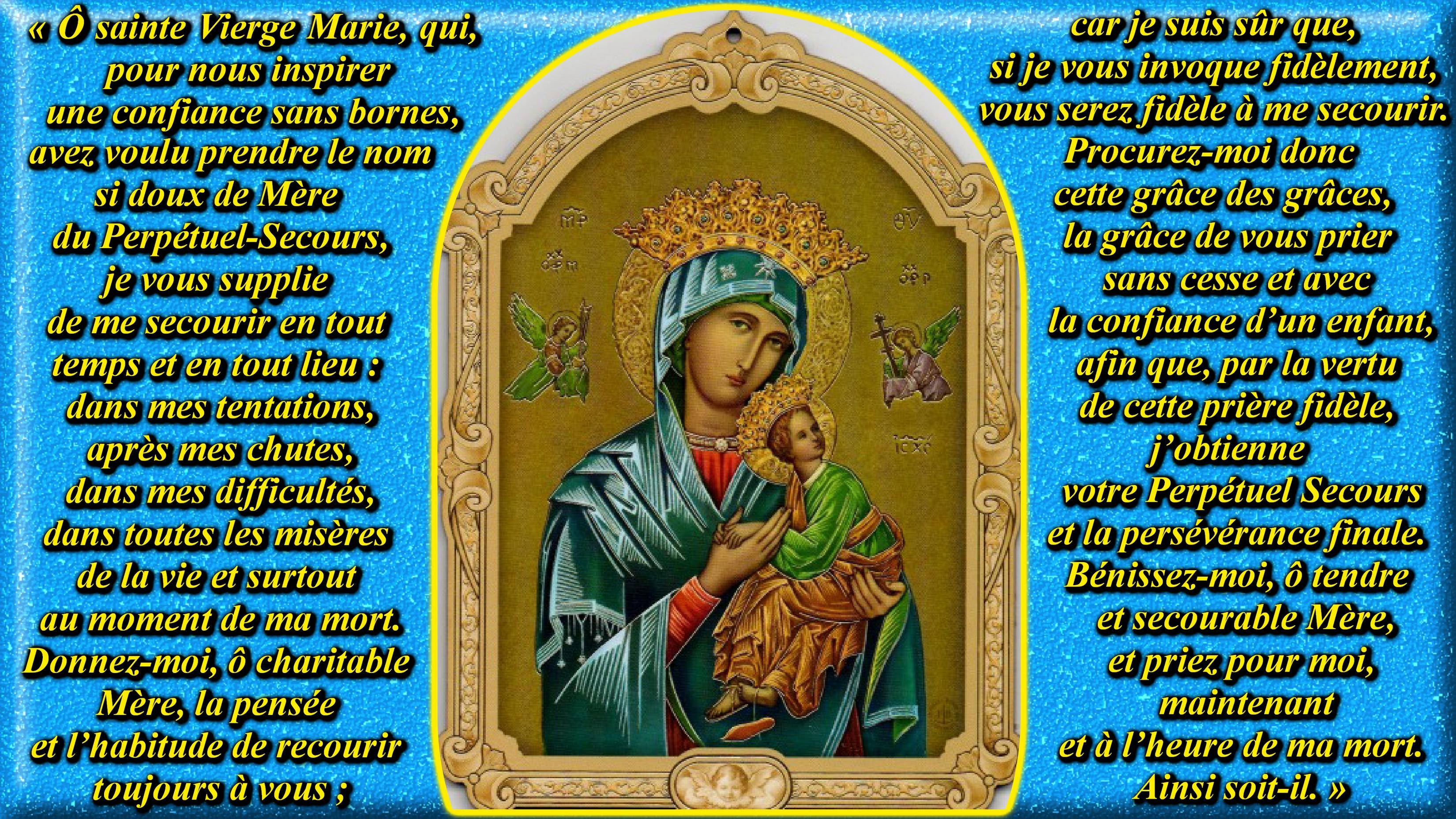 CALENDRIER CATHOLIQUE 2020 (Cantiques, Prières & Images) - Page 18 Pri-re-notre-dame...-secours-555f351