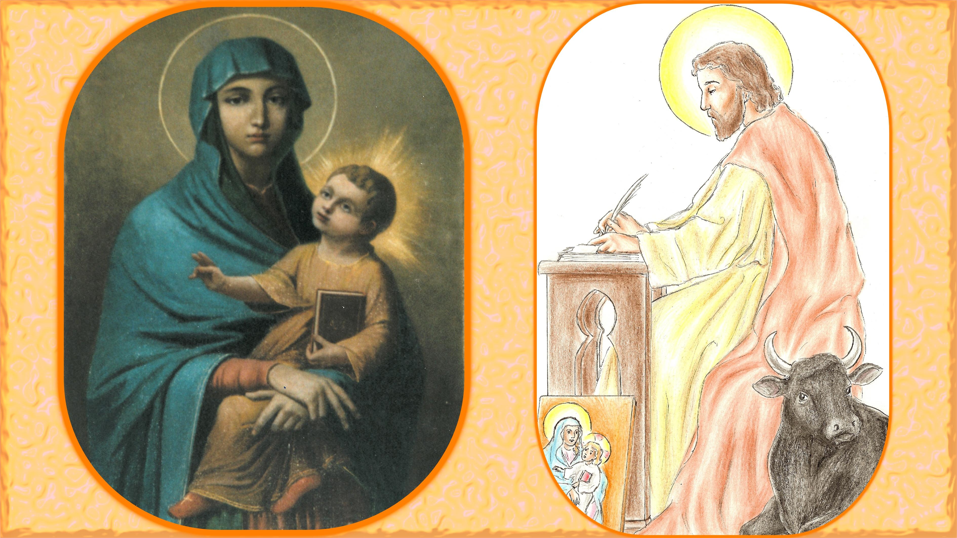 CALENDRIER CATHOLIQUE 2019 (Cantiques, Prières & Images) - Page 5 St-luc-sa-madone-...jeure-2--567007f