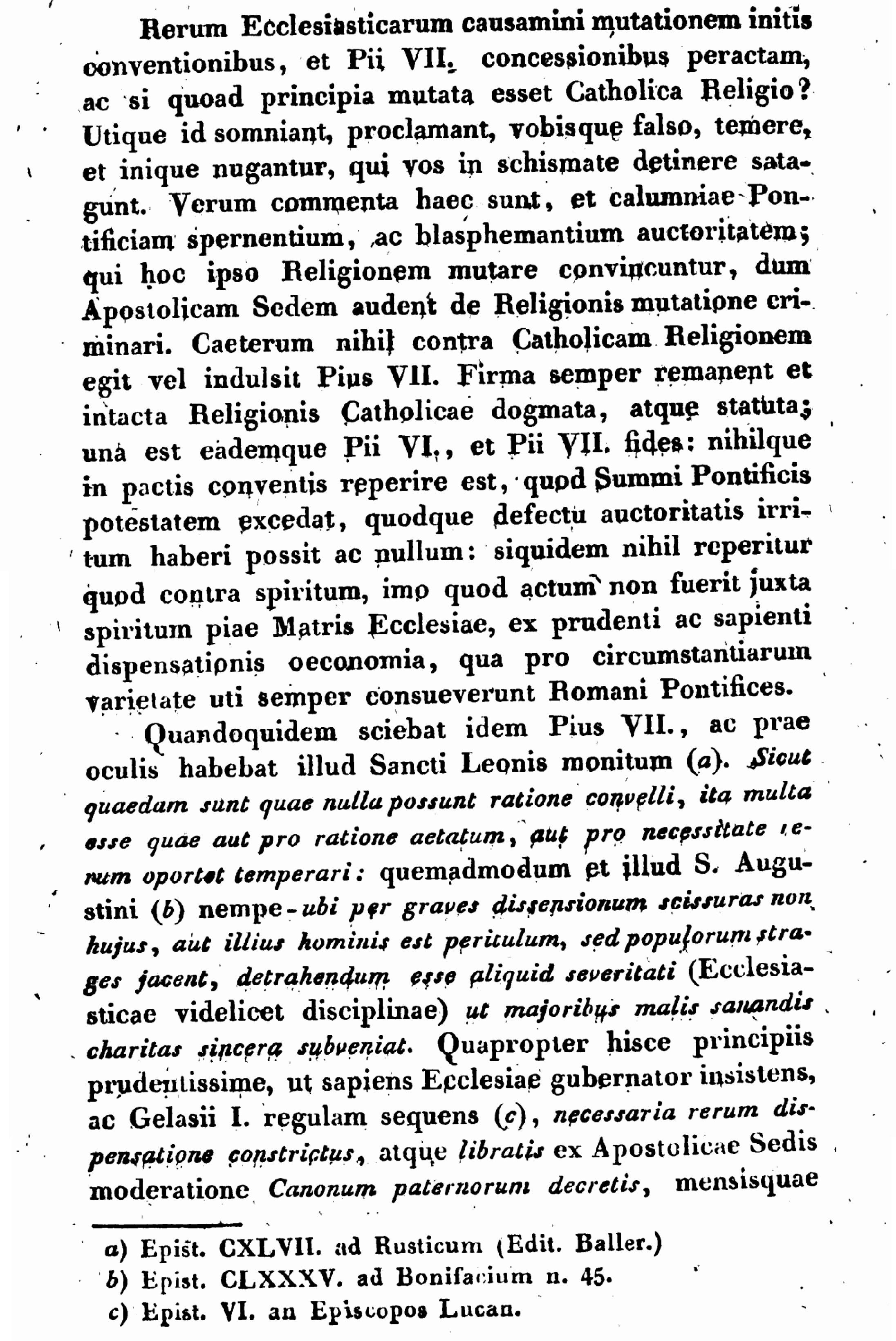"""Exhortation """"PASTORIS ÆTERNI"""" aux Dissidents anticoncordataires de la PETITE-ÉGLISE (2/7/1826) Léon XII Exhortation-pasto...n-xii-7--55d625b"""