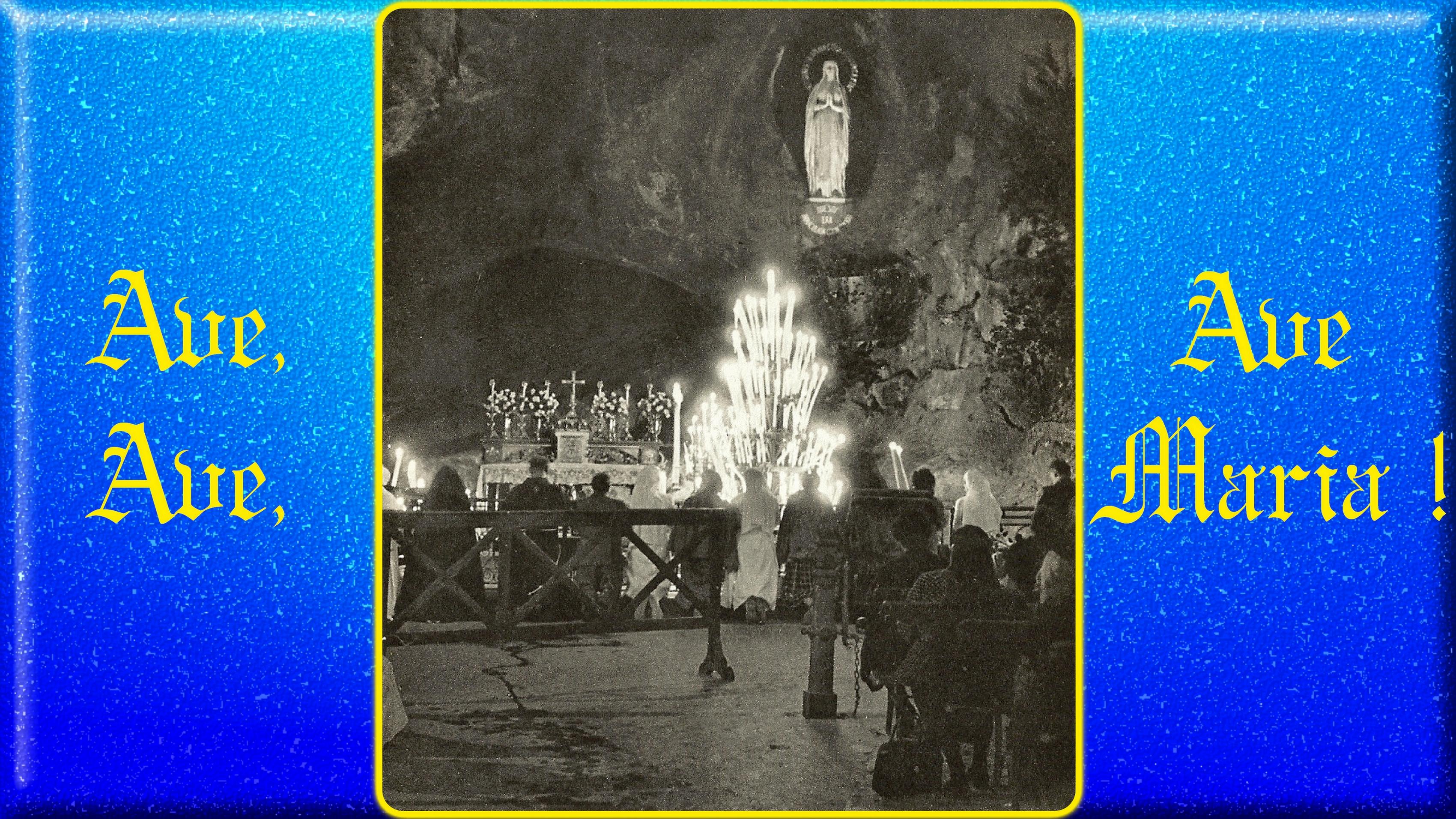 Le CIEL OUVERT par les 3 AVE MARIA du MATIN et du SOIR & La NEUVAINE EFFICACE - Page 5 La-grotte-de-lourdes-55b5789