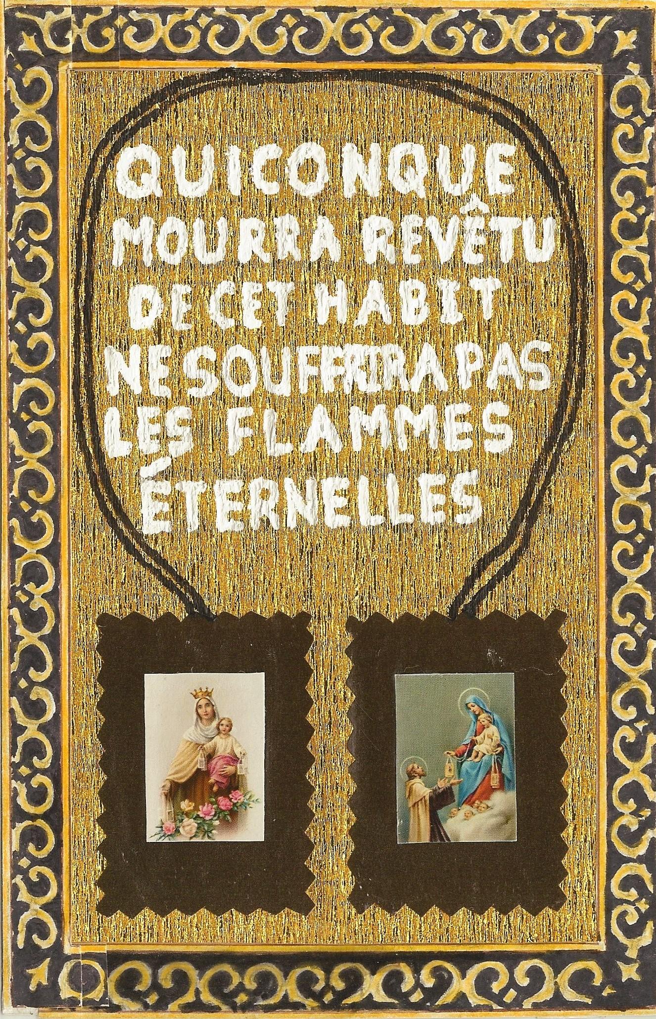 CALENDRIER CATHOLIQUE 2019 (Cantiques, Prières & Images) - Page 3 Le-scapulaire-de-...promesse-566075f