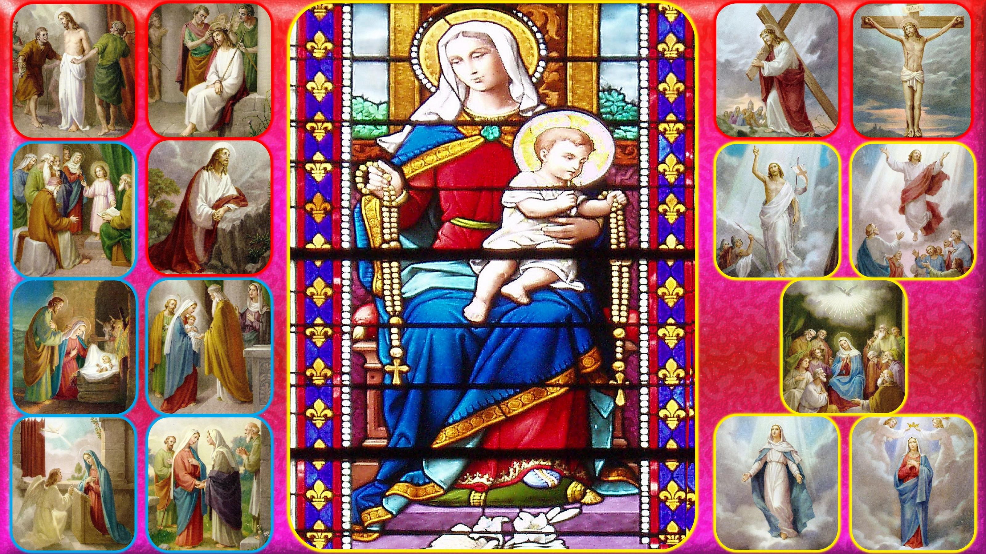 CALENDRIER CATHOLIQUE 2019 (Cantiques, Prières & Images) - Page 13 Notre-dame-les-15...-rosaire-558e99c