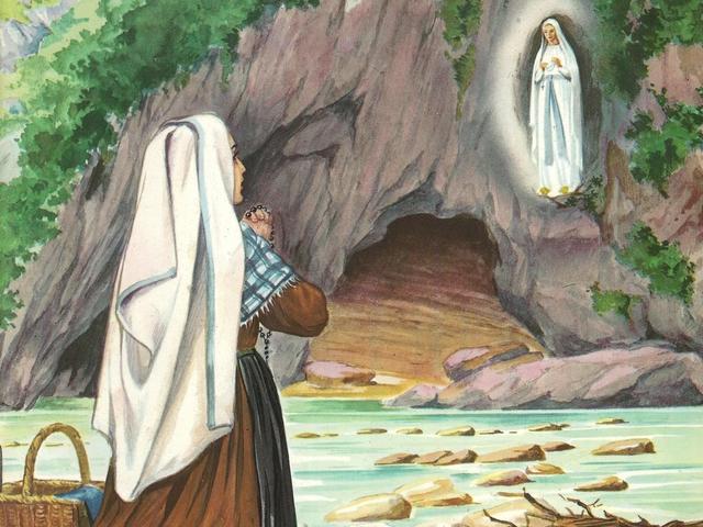 CALENDRIER CATHOLIQUE 2020 (Cantiques, Prières & Images) - Page 11 Apparition-de-not...rnadette-55c2886